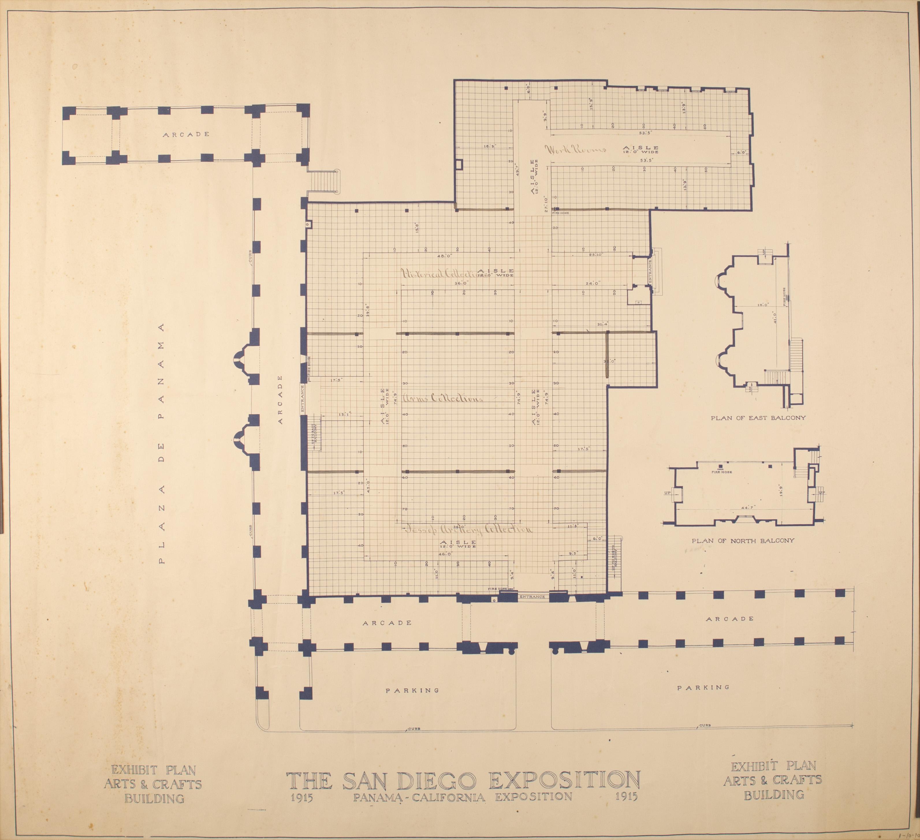 Architectural drawing panama california exposition Full size architectural drawings