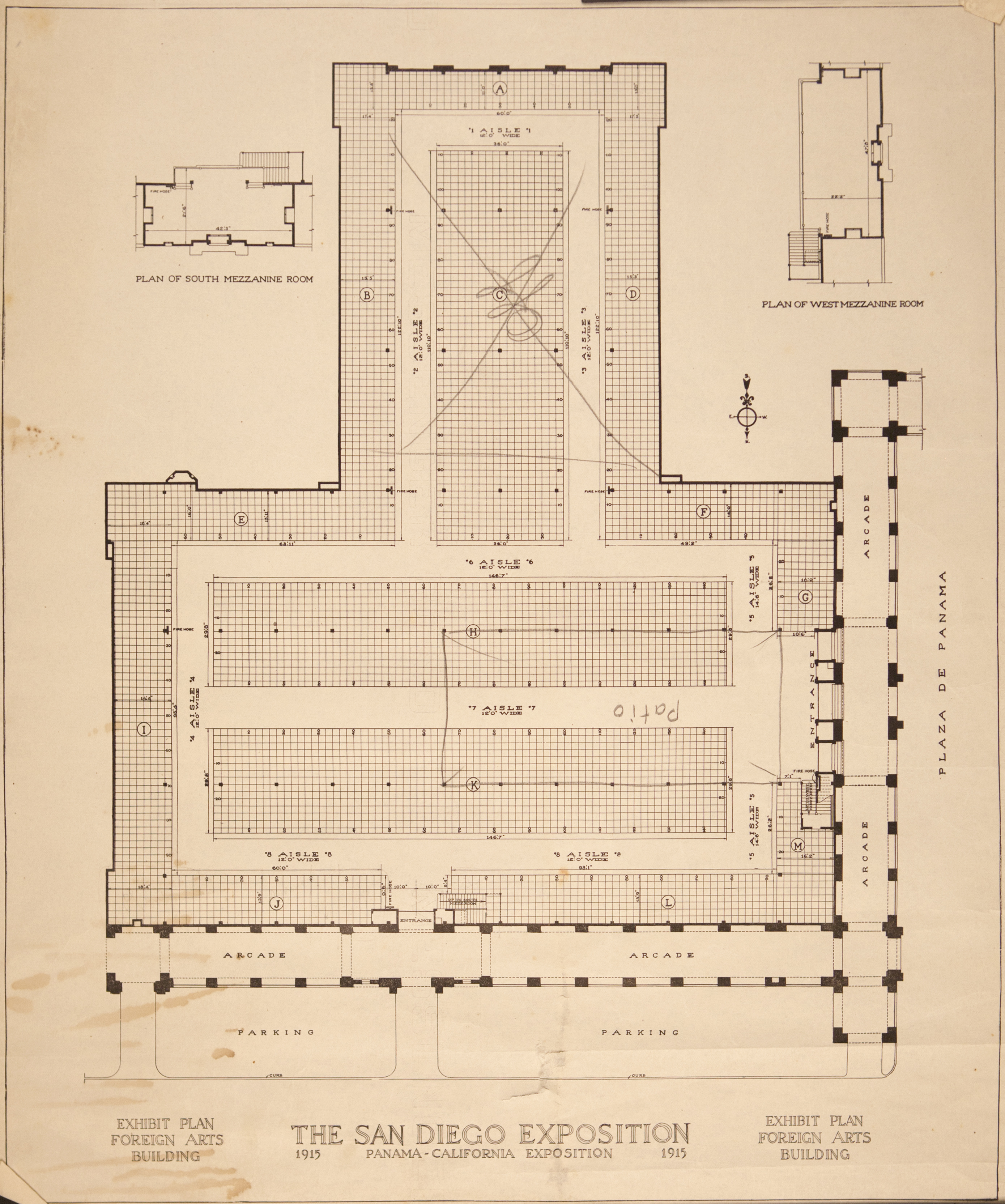 Architectural Drawing Panama California Exposition